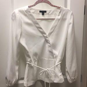 Size 2 J Crew v-neck faux wrap blouse.